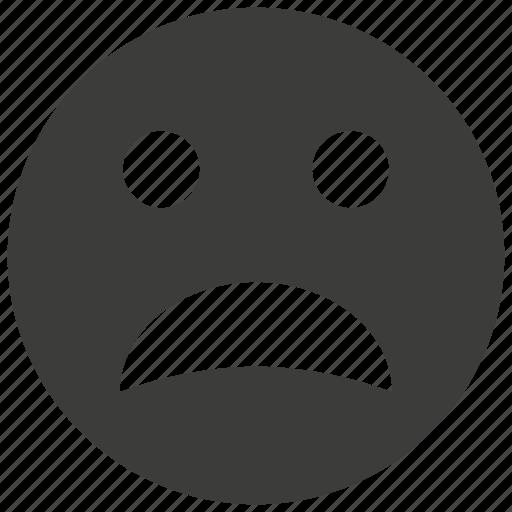 emoticon, emotion, expression, face, sad, ui, unhappy icon
