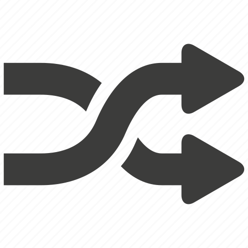 arrow, arrows, audio, music, random, shuffle, sound icon