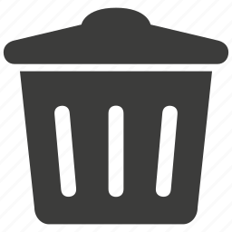 bin, delete, garbage, recycle, remove, trash, ui icon