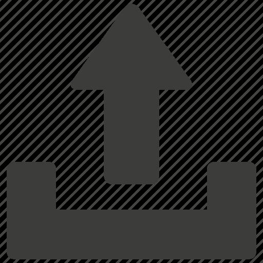 arrow, cloud, direction, file, up, upload, uploading icon