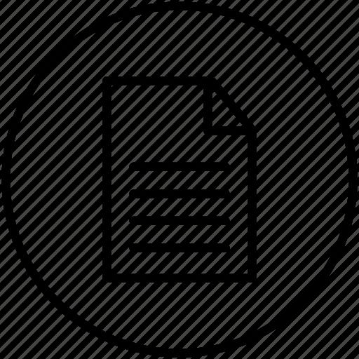 a4, document, paper, portrait icon