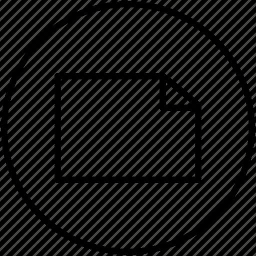 document, landscape, letter, paper icon