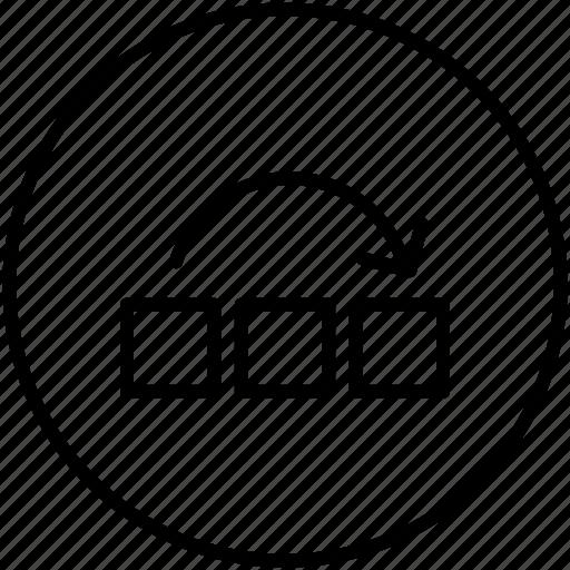 arrangement, arrows, horizontal, ui icon