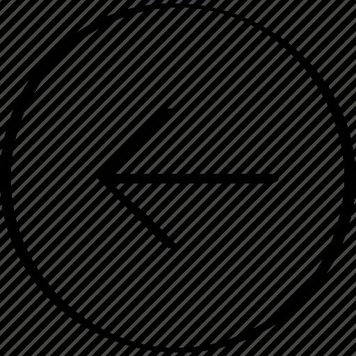 arrow, back, left icon