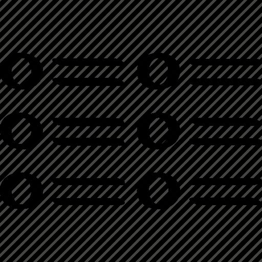 data, graphic, list icon