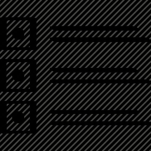 design, list, mockup icon