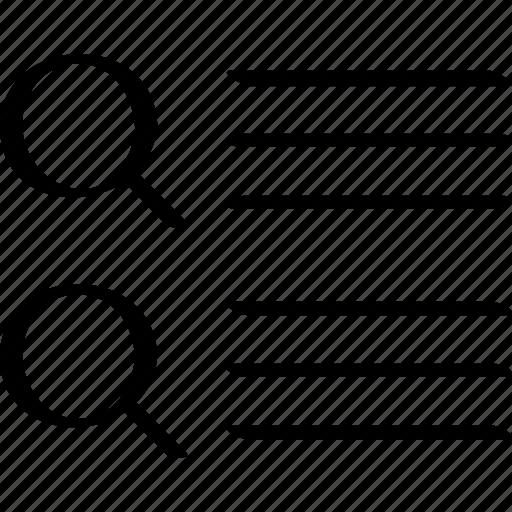 list, listing, web icon