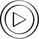 arrow, right, youtube icon