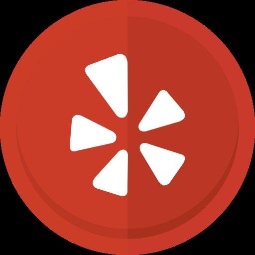 location, social media, yelp, yelp logo icon