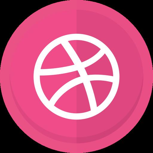 creative, dribbble, dribbble logo, graphic designer, online portfolio, social networking, web designer icon