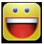 funny, happy, smiley, yahoo icon