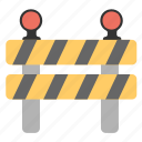 construction banner, construction barricade, traffic barrier, under construction barrier