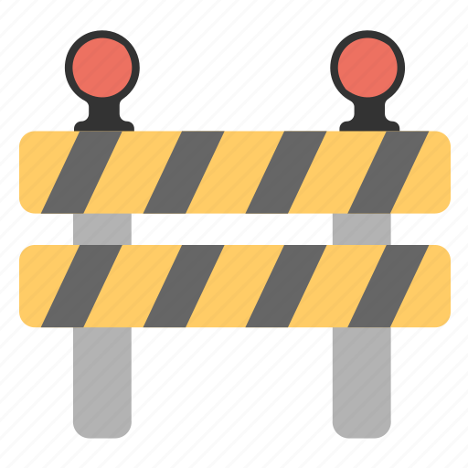 Construction banner, construction barricade, traffic barrier, under construction barrier icon - Download on Iconfinder