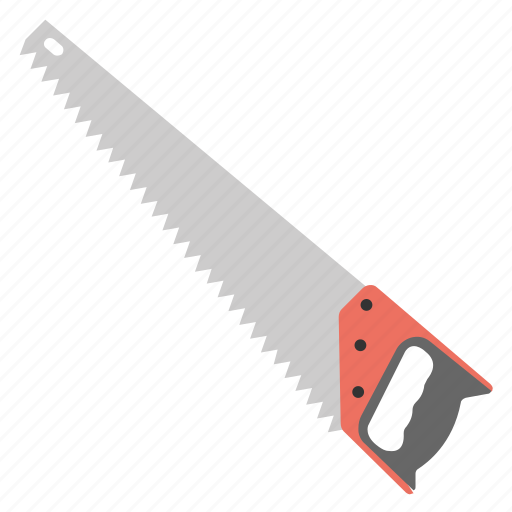 carpentry, cut, hand saw, hand tool, saw icon