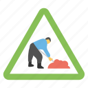road construction, road sign, road work ahead, traffic warnings, under construction sign
