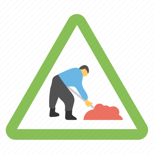Road construction, road sign, road work ahead, traffic warnings, under construction sign icon - Download on Iconfinder