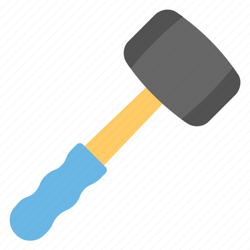 carpentering tool, construction tool, hammer, hand tool, lead hammer icon