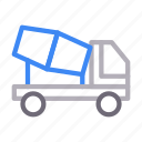 cement, construction, mixer, truck, vehicle icon