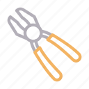 construction, fix, plier, repair, tools icon