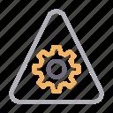 cogwheel, gear, setting, sign, warning