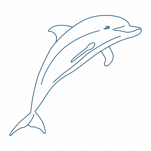 creature, dolphin, ocean, water icon