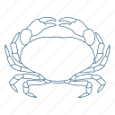 crab, crustacean, ocean, pincher, shell icon