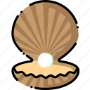 clam, ocean, pearl, sea, shell icon