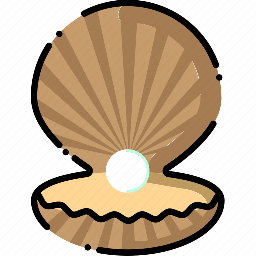 clam, ocean, pearl, sea, shell icon