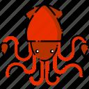calamari, fish, restaurant, seafood, squid icon