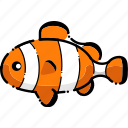 animal, clownfish, fish, sea