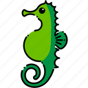 beach, fish, ocean, sea, seahorse icon