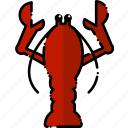cooking, food, lobster, restaurant, seafood icon