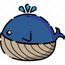 fish, ocean, sea, whale icon