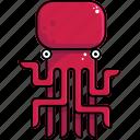 food, octopus, sea icon