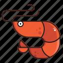 food, prawn, sea, shrimp icon