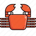 crab, food, sea icon