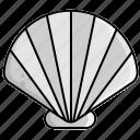 sea, shell icon