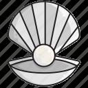 jewel, pearl, sea icon
