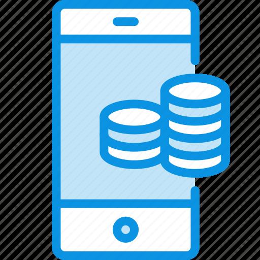 bank, mobile, money icon