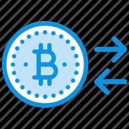 bitcoin, change, money icon