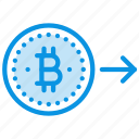bitcoin, money, send icon