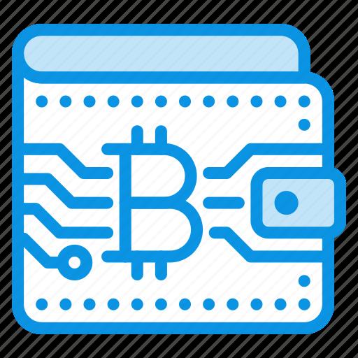 bitcoin, money, wallet icon