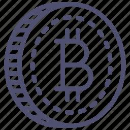 bitcoin, blockchain, money icon