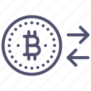 bitcoin, convert, money icon