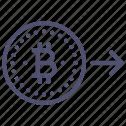 bitcoin, convert, money icon