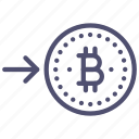 bitcoin, buy, money icon