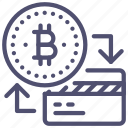 bitcoin, credit, finance icon