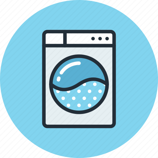 front, machine, washer, washing icon