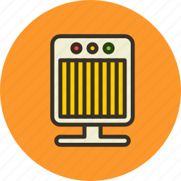electric, fan, heater, heating, radiator icon