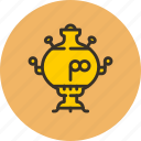 boiler, kitchen, samovar, tea, teapot icon